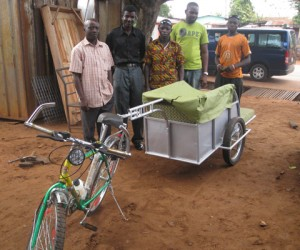 OSU Students designed and—with the help of local Ghanaians—built a prototype bicycle ambulance.
