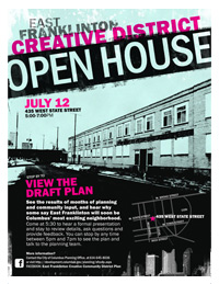 East Franklinton Open House Poster