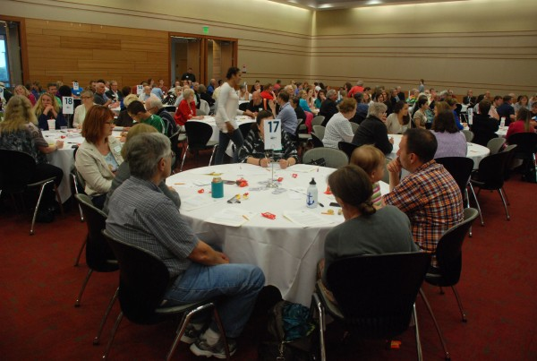 After real time polling, ValpoNEXT Community Summit participants discuss key issues