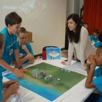 Sarah Bongiorno works with campers to cultivate interest in architecture