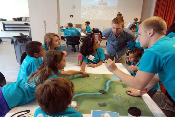 """Campers work in teams to create the """"best city"""" at Camp Architecture"""