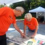 Members of the Citizen Advisory Team work together to get the word out about Imagine Westerville
