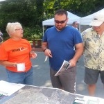 The Citizen Advisory Team works to educate residents at the Arts Fesival
