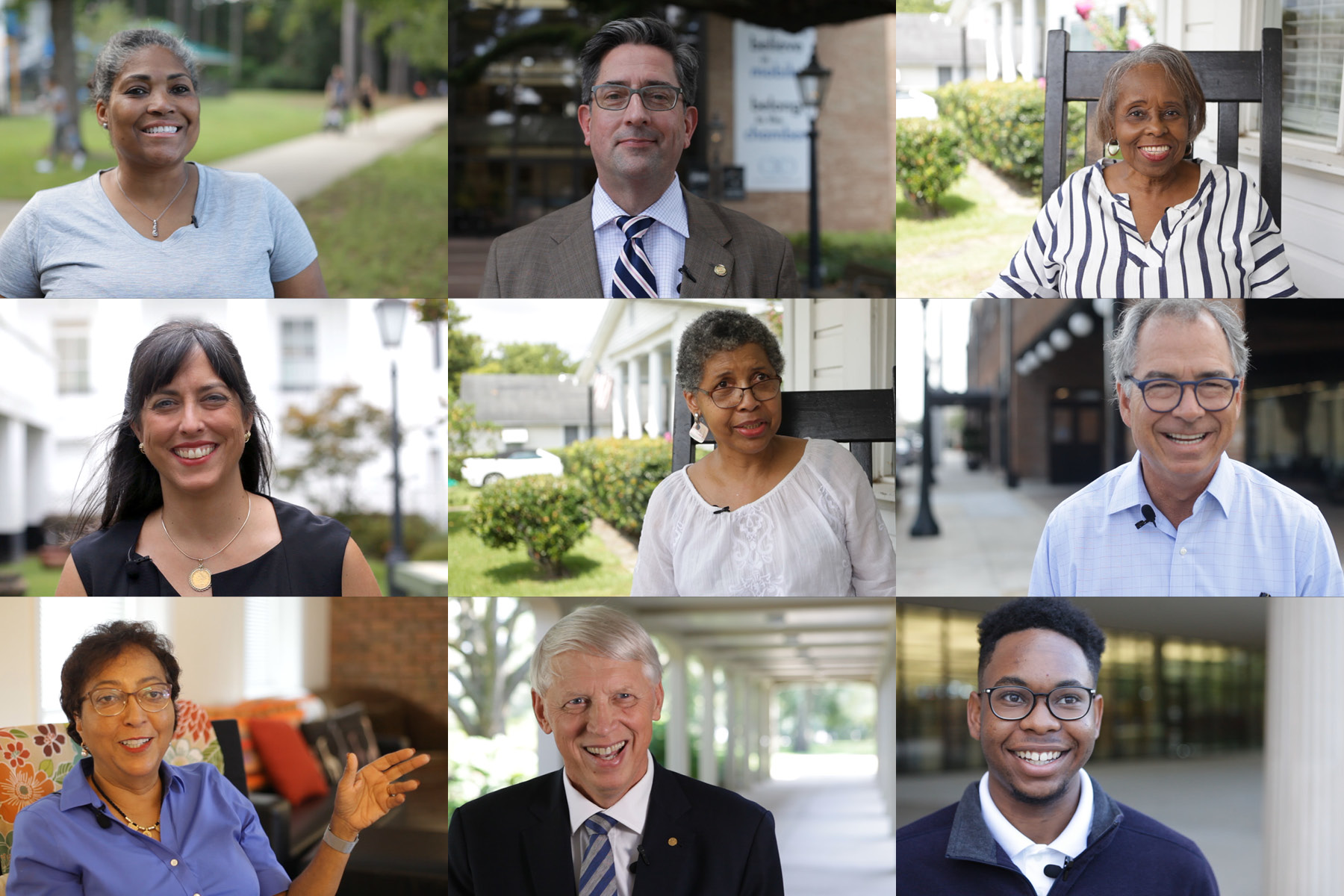 Montage of participants interviewed for a video in Mobile, Alabama