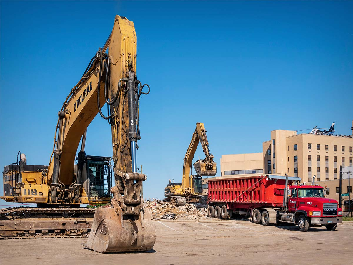 Construction equipment for the OSU campus extension
