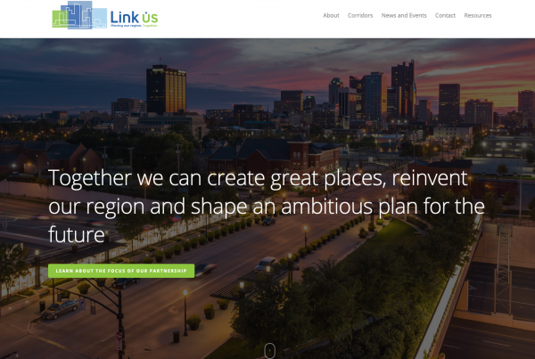 Screen capture of the https://linkuscolumbus.com/ landing page.